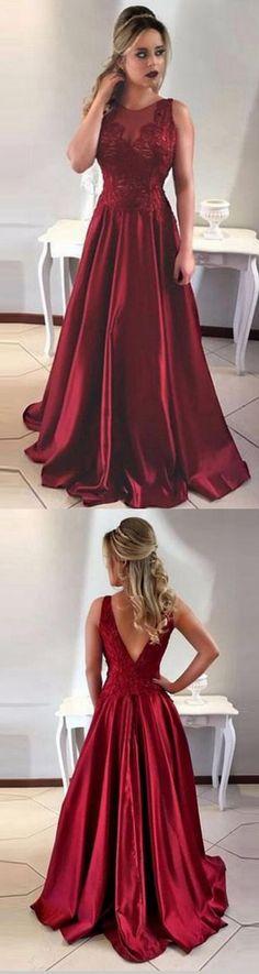 Burgundy Prom Dress,2018 Prom Dresses,Long Evening Gown,Graduation Party Dresses,Prom Dresses For Teens,A Line Prom Dress #burgundy #evening #prom #teens #2018 #graduation