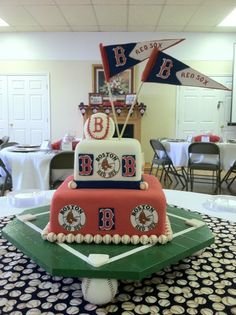 Boston Red Sox Grooms Cake
