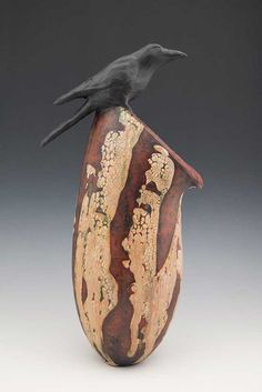 "Melanie Ferguson  |  ""Searching For An Opening"" Hand-built stoneware (13"" x 9"", 2010)."