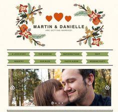 Wedding Website by Danielle Poole, via Behance