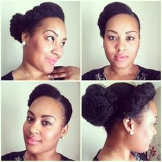 Natural Hair :: Side Bun With Front Flat Twist