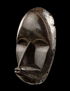 "Face mask ""gägon"" from the Dan people of the Ivory Coast. Wood, with black patina. Africa Art, West Africa, Art Tribal, African Sculptures, Art Africain, Black Artwork, Masks Art, Black Mask, African Masks"