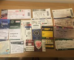 A few of the foreign tickets to games abroad. #groundhopping #bundesliga #seriaa #spl #mls #wales #norniron #bresciacalcio #atalanta #internazionale #herthaberlin #hannover96 #hsv #spartapraha #standardliege #koln #dynamodresden #hibs #philadelphiaunion