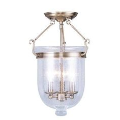 ...but nickel.  Lauder Semi Flush Mount with Seeded Glass at Wayfair - Great Deals on all Lighting  products with Free Shipping on most stuff, even the big stuff.