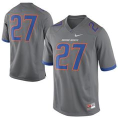 f8654605a Nike Boise State Broncos  27 Game Football Jersey - Dark Gray