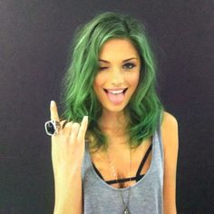 Wicked green hair