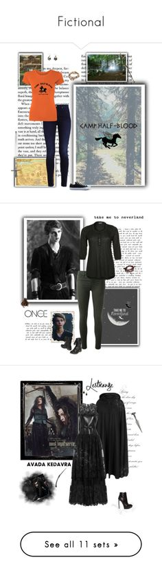 """""""Fictional"""" by frikforever ❤ liked on Polyvore featuring art, Once Upon a Time, J Brand, Baci & Abbracci, Bling Jewelry, Bellatrix, Priestley's Vintage, Valentino, Yves Saint Laurent and Juicy Couture"""