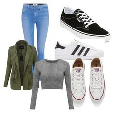 """""""Untitled #853"""" by fashionsparkles11 on Polyvore featuring Paige Denim, Vans, adidas Originals, Converse and LE3NO"""