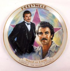 """Hollywood Walk Of Fame Collector Plate ~ """"Tom Selleck"""""""