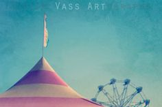 """12 x 8 """"Tent Top"""" Artography, Altered Art Photograph, Carnivale Series"""