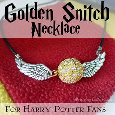 Pieces by Polly: Golden Snitch Necklace