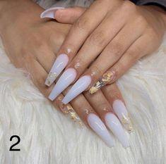 White Acrylic Nails, Summer Acrylic Nails, Best Acrylic Nails, White Coffin Nails, Clear Acrylic, White Acrylics, Summer Nails, Long White Nails, White Stiletto Nails
