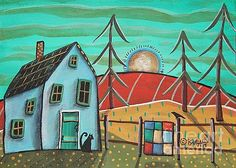 Blue House 1 by Karla Gerard