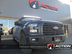 """50"""" Enthuze Curved light bar installed on this 2016 F150"""