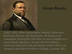 BLACK HISTORY MONTH: Hiram Revels, 1st African American to be elected to the Senate