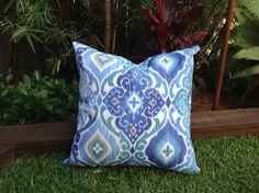 Blue Outdoor Cushions, Boho Outdoor Pillows Decorative Scatter Cushions Modern Outdoor Pillows