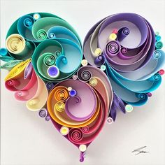 The power of love - Paper Quilling by Sena Runa Paper Quilling Tutorial, Quilled Paper Art, Paper Quilling Designs, Quilling Paper Craft, Quilling Patterns, Paper Crafts, Quilling Butterfly, Diy And Crafts, Arts And Crafts