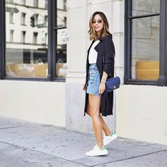 Keepin' it casual in my denim skirt and #stansmith xoxo