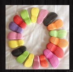 Gummi-Sohle für häkeln handgemachte Sohle Sohle um von CrochetbyNJ