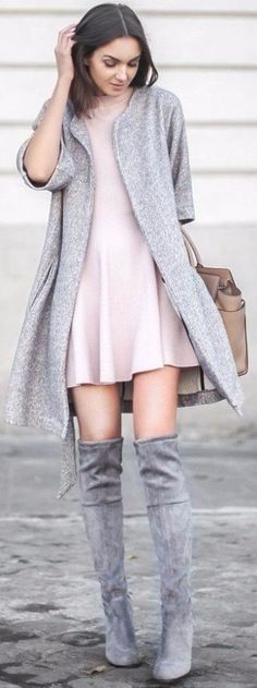 55 Street Style Fall Outfits & Looks - Outfits Stylish Winter Outfits, Spring Outfits, Trendy Outfits, Fashion Outfits, Dress Fashion, Outfits 2016, Trendy Hair, Night Outfits, Summer Outfit