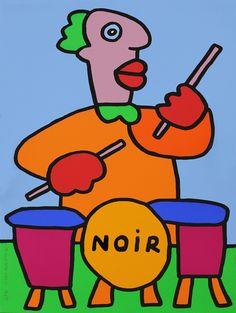 Thierry Noir - Musician series - Drummer
