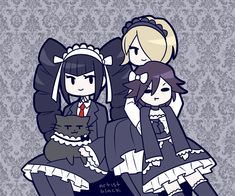 "Did Kirumi make Kokichi wear a gothic maid outfit? LOL he is probably soooo regretting asking her to be his ""mom"""
