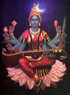 Ram Navami Blessings - My love for Goddess Raja Matangi - Shyamala Devi Saraswati Goddess, Indian Goddess, Goddess Art, Goddess Lakshmi, Durga Maa, Lord Saraswati, Saraswati Vandana, Saraswati Mata, Lord Durga