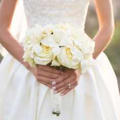 Stunning Gardenia Bridal Bouquet // photo by: Ira Lippke Studios // Bridal Bouquet: Harrington Smith Inc. // http://www.theknot.com/weddings/album/a-romantic-outdoor-wedding-in-aspen-co-136580
