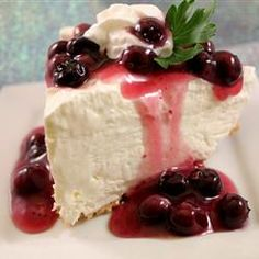 2 step no bake cheesecake! fat-free cream cheese & fat-free cool whip + powdered sugar. Use as low fat fruit dip or put in graham shell