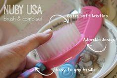 Nuby Brush & Comb Set! A great stocking stuffer for toddlers! #stockingstuffer #toddler #babystuff #NubyUSA #burlingtoncoatfactory #babyproducts #babycare