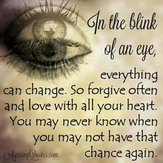 In the blink of an eye...