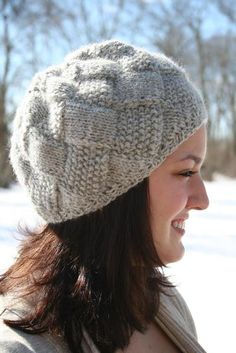 Entrelac Winter Hat