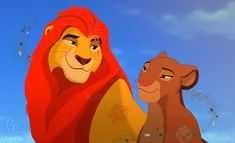 King Kion and Queen Rani by on DeviantArt Lion King Series, The Lion King 1994, Lion King Fan Art, Kiara Lion King, Simba And Nala, Big Cats Art, Cat Art, Lion King Funny, Lion Kingdom