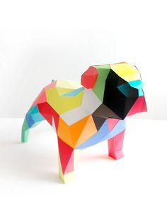 Bulldog Ingles DIY Kit, Sculptures, Paper Crafts, Inspiration, Collection, Decor, Crocheting, Favorite Color, Puzzles