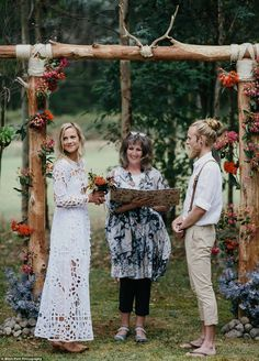 Nuptials: The couple were engaged for just three months before the wedding and made many o...