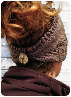 Knitted Headband/neck warmer (This is a knitting pattern but I would like to find a similar crochet pattern! Knitting Patterns, Crochet Patterns, Free Knitting, Knitting Needles, Crochet Ideas, Knit Crochet, Crochet Hats, Ravelry Crochet, Double Crochet