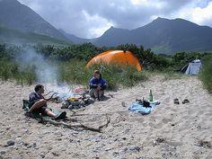 Sannox beach wild camp, Arran, summer 2005