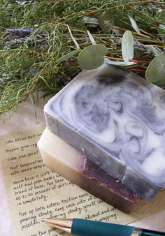 Cold process soap making. 3 great recipes.