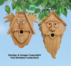 Decorative Cedar Men Birdhouse Patterns