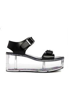 YRU - Qloud Athena - Sandales plates à semelle transparente