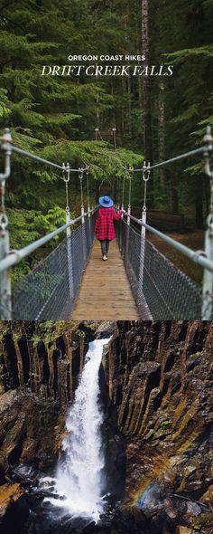 Photo Guide to Drift Creek Falls - Oregon Hikes, Lincoln City Oregon Vacation, Oregon Travel, Travel Usa, Beach Travel, Travel Portland, Hawaii Travel, Italy Travel, Vacation Spots, Oregon Coast Hikes