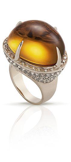 Citrino, diamantes champanhe e ouro amarelo, da H Stern Brazil.