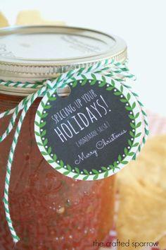Homemade Salsa Gift Tag Printable