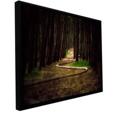 Trees by Revolver Ocelot Gallery-Wrapped Floater-Framed Canvas