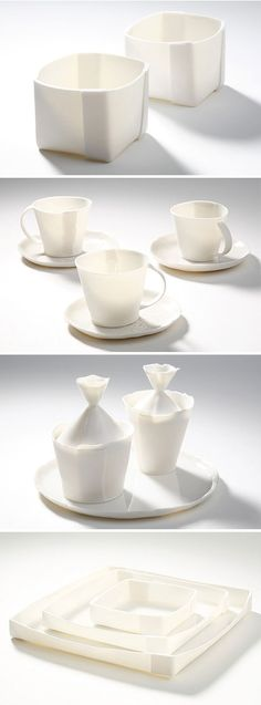 Doris ceramics... ok not paper but definitely inspired by origami! beautiful!