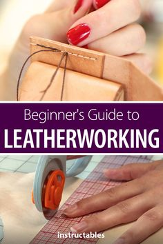 are 9 handy tutorials to help you get started with leatherworking. Here are 9 handy tutorials to help you get started with leatherworking. Como Remover as Cutículas SEM Alicate em 5 Minutos de uma forma bem simples e sem dor. Leather Stamps, Leather Art, Sewing Leather, Leather Tooling, Leather Totes, Leather Jewelry, Leather Purses, Diy Leather Projects, Leather Diy Crafts