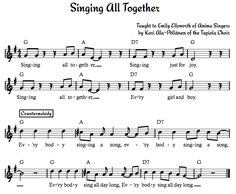 Singing All Together - Beth's Notes