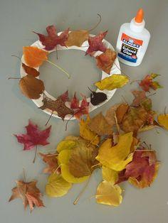 Easy Enough for Kids Leaf Wreath Craft