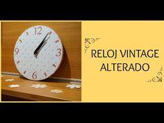 Cómo decorar un reloj DIY. Reloj vintage alterado con papeles de scrap. - YouTube
