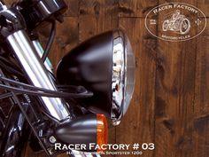 "Phare Springer 6""1/2  RF#03 - Harley Davidson Sportster modèle Forty-Eight 1200 by Racer Factory"